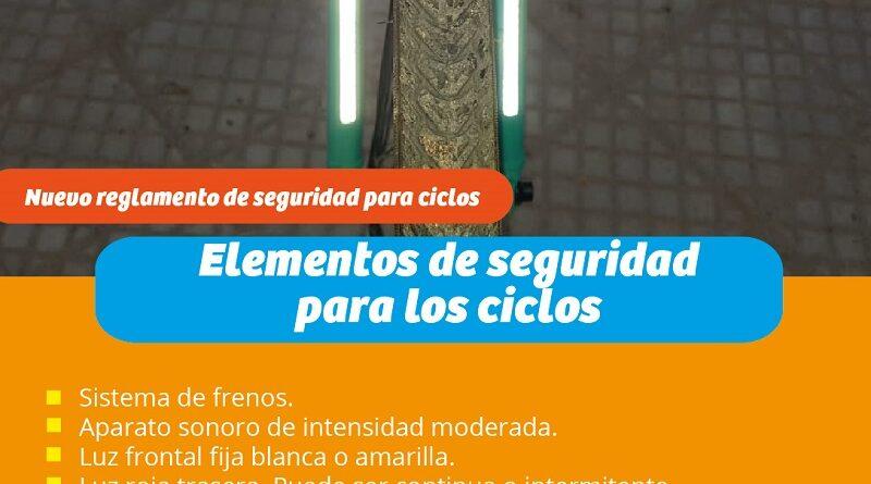 Reglamento de ley obliga a utilización de elementos de seguridad a ciclistas y vehículos de 2 ruedas.