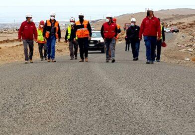 MOP-Vialidad abrió al tránsito el renovado acceso al vertedero municipal de Arica
